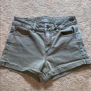 Olive green high waist shorts